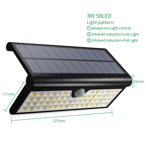 Image of Outdoor Solar Wall Led Lighting