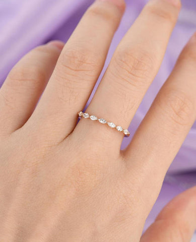Image of Marquise Cut Diamond Ring Solid 14k Rose Gold