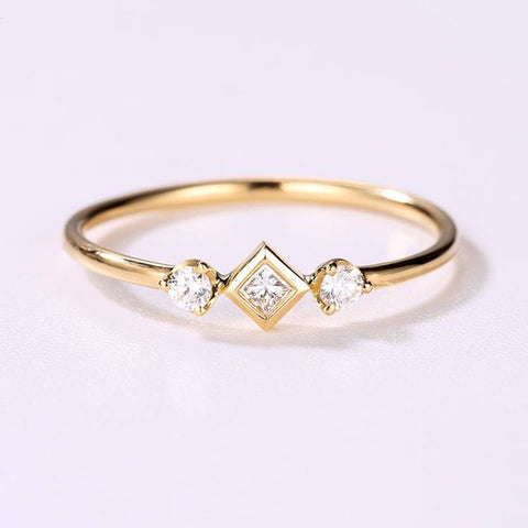 Natural Genuine Diamond Engagement Ring