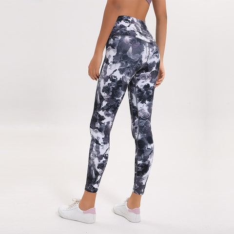 Out Pocket Printed Sports Leggings
