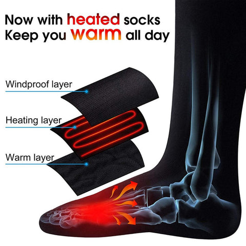 Image of Doctors Recommended : Battery-Powered Electric Heated Socks