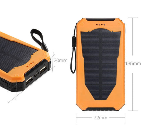 Image of Waterproof Solar Powered Phone Charger