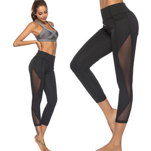 Sexy Mesh Stitching Workout Leggings