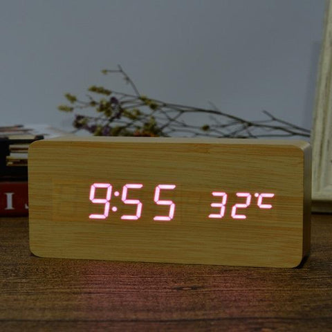 Neat Entropy bamboo purple Home Wooden Alarm Clock