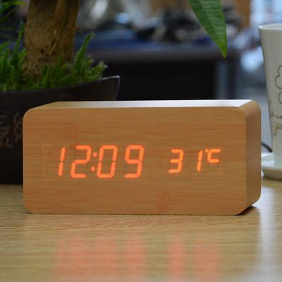 Neat Entropy bamboo red Home Wooden Alarm Clock