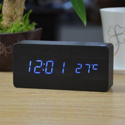 Neat Entropy black blue Home Wooden Alarm Clock