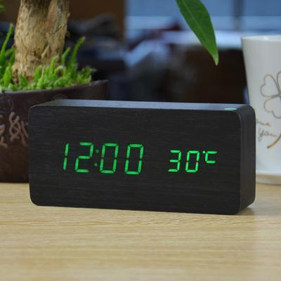 Neat Entropy black green Home Wooden Alarm Clock