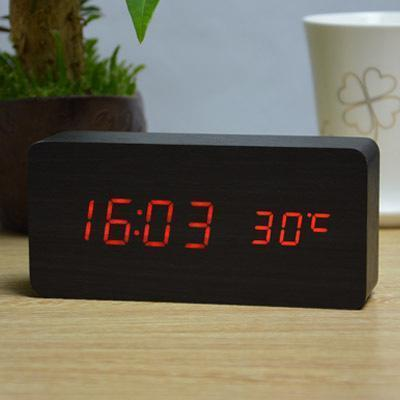Neat Entropy black red Home Wooden Alarm Clock