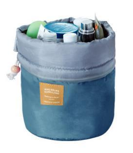 Neat Entropy Blue Barrel Travel Cosmetic Bag