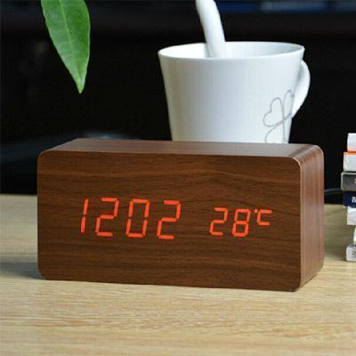 Neat Entropy brown red Home Wooden Alarm Clock