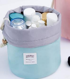 Neat Entropy Sky Blue Barrel Travel Cosmetic Bag