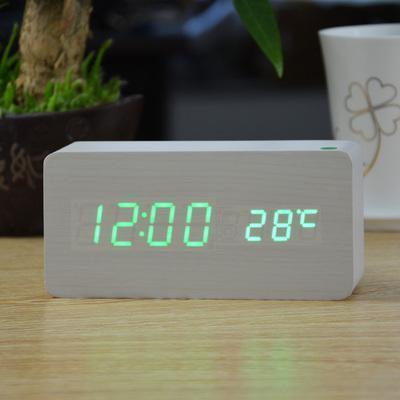 Neat Entropy white green Home Wooden Alarm Clock