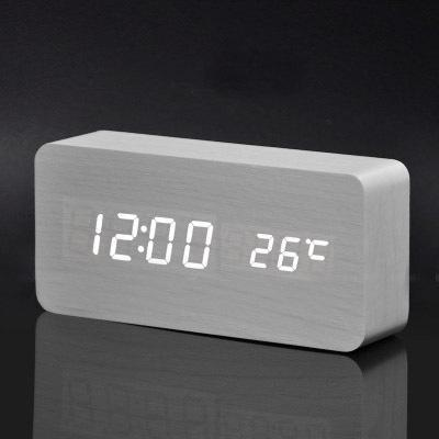 Image of Neat Entropy white white Home Wooden Alarm Clock
