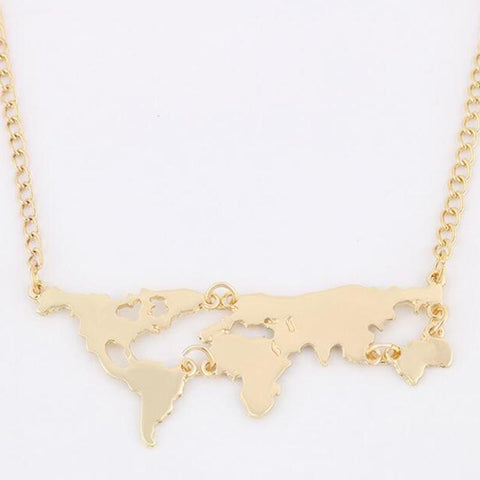Neat Entropy World Map Necklace