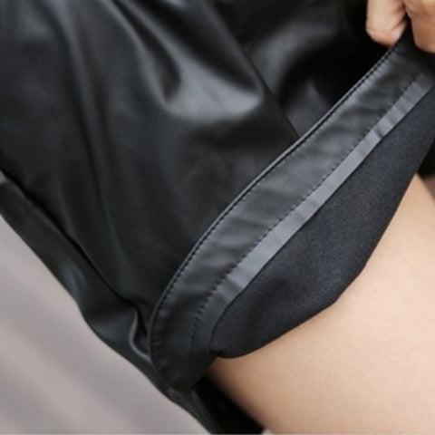 High Waist Shorts Faux Leather Short Bottoms