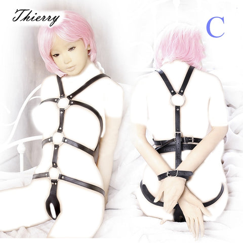 Image of Leather Flirting Body Harness