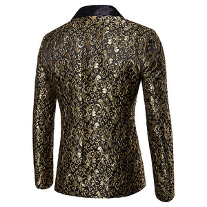 Deluxe Men's Vintage Gold Blazer Jacket