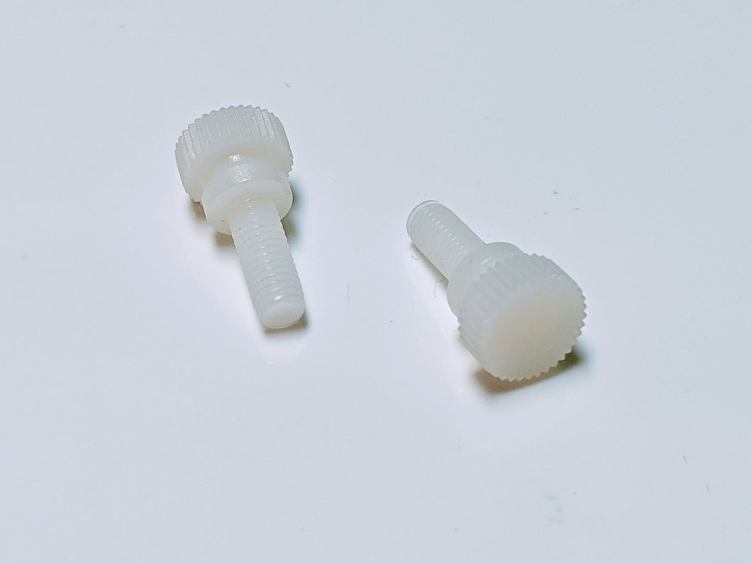 10-32x1/2 Knurled Thumb Screw with Washer Face Nylon 6/6 Natural