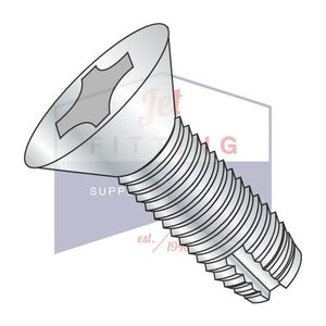 8-32X5/8  Phillips Flat Thread Cutting Screw Type 1 Fully Threaded Zinc