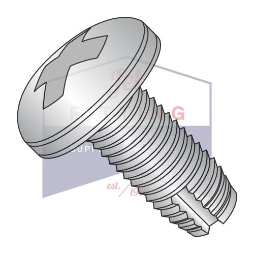 8-32X3/8  Phillips Pan Thread Cutting Screw Type 1 Full Thread 18 8 Stainless Steel