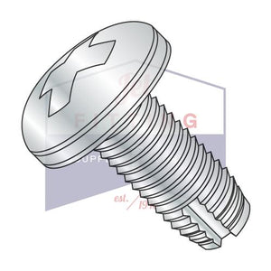 8-32X3/4  Phillips Pan Thread Cutting Screw Type 1 Fully Threaded Zinc