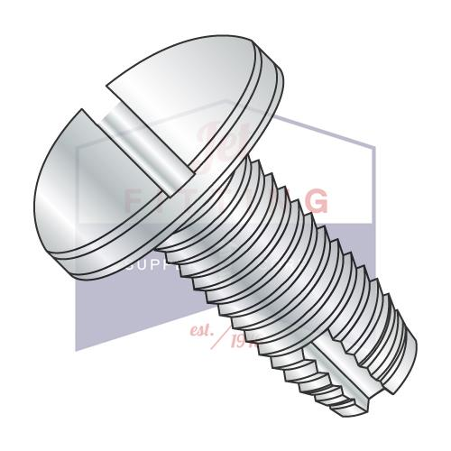 8-32X1/2  Slotted Pan Thread Cutting Screw Type 1 Fully Threaded Zinc