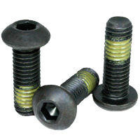8-32X1/4 Button Socket Hex Cap Screw Alloy Steel Nylon Patch