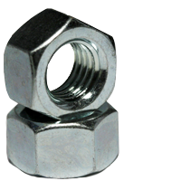 3/8-16 Finished Hex Nut Steel Zinc