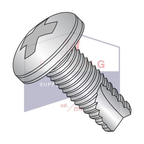 4-40X3/4  Phillips Pan Thread Cutting Screw Type 23 Fully Threaded 18-8 Stainless Steel
