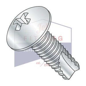 8-32X3/8  Phillips Full Contour Truss Thread Cutting Screw Type 23 Fully Threaded Zinc