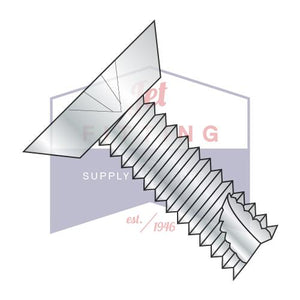 10-24X3/8  Phillips Flat Undercut Thread Cutting Screw Type 23 Fully Threaded Zinc And Bake