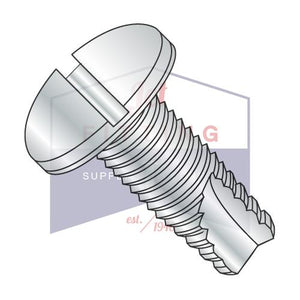 8-32X1  Slotted Pan Thread Cutting Screw Type 23 Fully Threaded Zinc