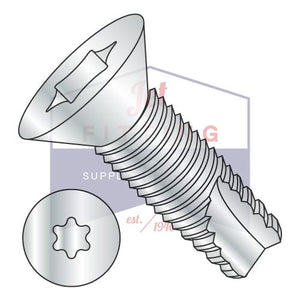 10-24X3/4  6 Lobe Flat Thread Cutting Screw Type 23 Fully Threaded Zinc And Bake