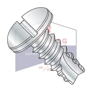 6-20X5/8  Slotted Pan Thread Cutting Screw Type 25 Fully Threaded Zinc