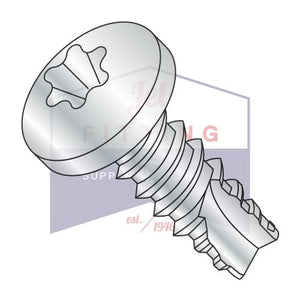 4-24X3/4  6 Lobe Pan Thread Cutting Screw Type 25 Fully Threaded Zinc and Bake