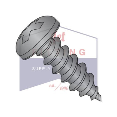 1/4-14X3/4  Phillips Pan Self Tapping Screw Type AB Fully Threaded Black Oxide