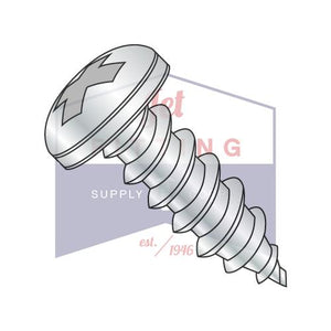 8-18X1/2  Phillips Pan Self Tapping Screw Type AB Fully Threaded Zinc And Bake