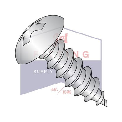 8-18X1/4  Phillips Full Contour Truss Self Tapping Screw Type AB Full Thread 18-8 Stain