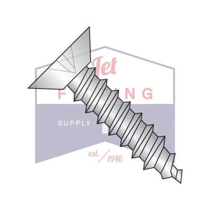 8-18X3/8  Phillips Flat Undercut Self Tapping Screw Type AB Fully Threaded 18-8 Stainless