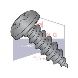 8-15X1/2  Phillips Pan Self Tapping Screw Type A Fully Threaded Black Oxide -- Package