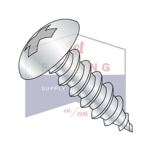8-15X1/2  Phillips Full Contour Truss Self Tapping Screw Type A Full Thread Zinc And Bake