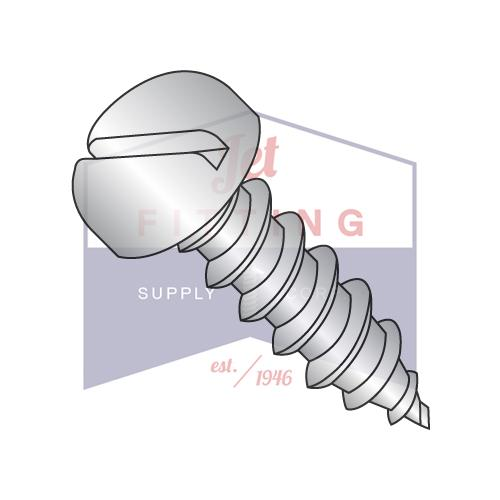 8-15X1/2  Slotted Pan Self Tapping Screw Type A Fully Threaded 18-8 Stainless Steel