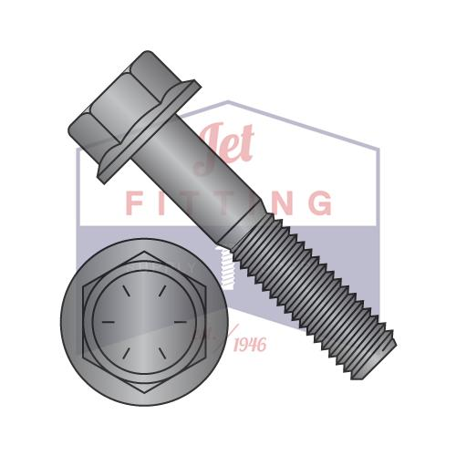 3/4-10X2 1/4  Hex Head Flange Non Serrated Frame Bolt IFI-111 2002 Steel Grade 8 Black Phosphate