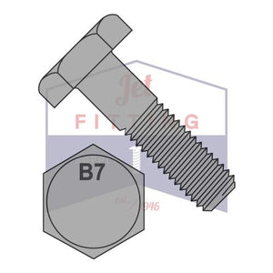 7/8-9X4  Heavy Hex Bolt Steel Grade B7 ASTM A193 Plain