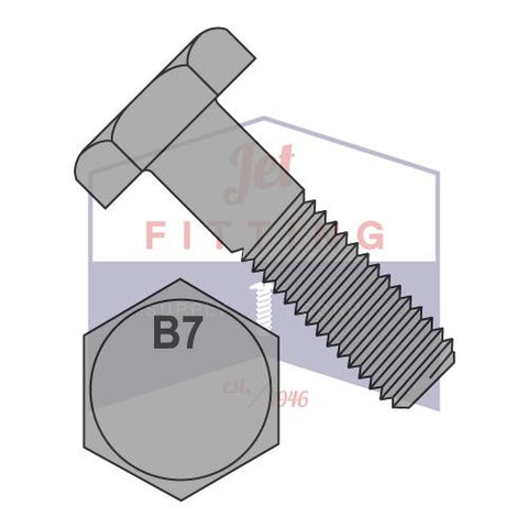 U04210.100.0700 7 Steel Structural Bolt with Hot Dipped Galvanized Finish; PK5