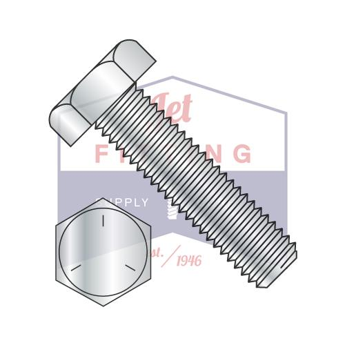 7/8-9X3 1/2  Hex Tap Bolt Steel Grade 5 Fully Threaded Zinc