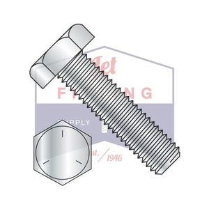 7/8-9X4  Hex Tap Bolt Steel Grade 5 Fully Threaded Zinc