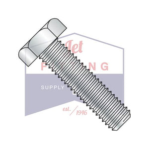 7/8-9X6 1/2  Hex Tap Bolt Low Carbon Steel Fully Threaded Zinc