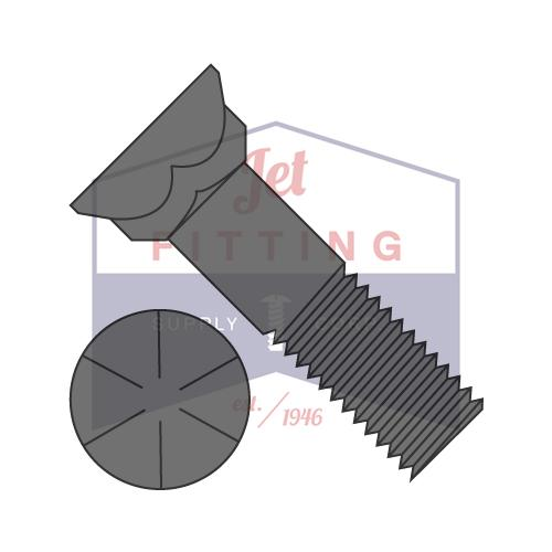 3/4-10X3  Grade 8 Plow Bolt With Number 3 Head Plain