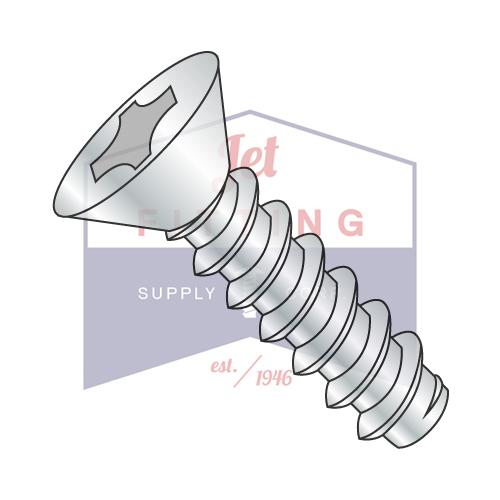 8-18X1/2  Phillips Flat Self Tapping Screw Type B Fully Threaded Zinc